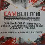 งานออกบูธ ประจำปี Cambuild 16 ระหว่างวันที่ 8-10 September 2016